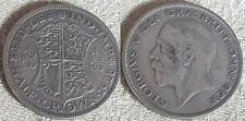 1928 King George V Silver Half Crown Coin