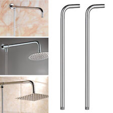 """60CM 24"""" Wall Shower Head Extension Pipe Long Stainless Steel Arm Bathroom Home"""