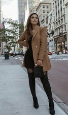Zara Double Breasted Frock Coat Blazer SS20 2137/295 Camel Brown  Size L