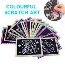 10Pcs Colourful Scratch Art Kids Craft