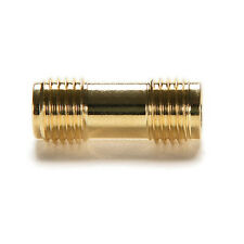 2x Gold plating Adapter SMA female to SMA female jack  connector straight kz