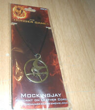 Hunger Games Mockingjay Pendant on Leather Cord Newand Mint in Package Girl& Boy