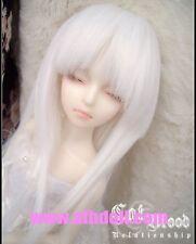 """7-8"""" wig 1/4 BJD hair Mini Super Dollfie MSD White AOD DOD AF DK DZ DL Luts MK"""