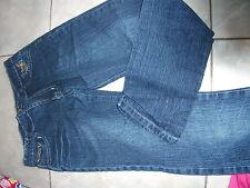 SUPERBE Jeans FLEURI  T 12 ANS   TAILLE AJUSTABLE