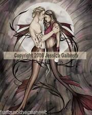Jessica Galbreth Entwined Mermaid Couple Print Male Boy Wedding Lovers 11x17