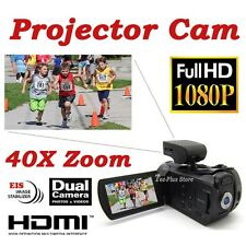 NEW JAPAN ORDRO D-350 PROJECTOR CAMCORDER IN FULL HD 1080P 40X ZOOM 12.0 MP