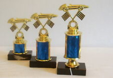 SET OF 3 CUB SCOUT PINEWOOD DERBY TROPHIES  PINEWOOD DERBY  SCOUTING TROPHIES @@