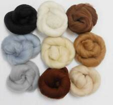 Felting Wools -Merino Wool Tops - NEUTRAL TONES