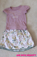 Brand new Lovely Baby Kids Girls Tops and Skirt Sets 3-4yrs kids sets