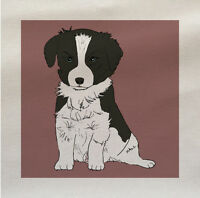 Dog collie  Fabric Panel Make A Cushion Upholstery Craft