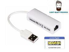 ADATTATORE ETHERNET RJ45 SCHEDA DI RETE USB 2.0 LAN