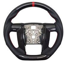 REVESOL Hydro-Dip Carbon Fiber Black Steering Wheel for 2011-2014 F150 RAPTOR