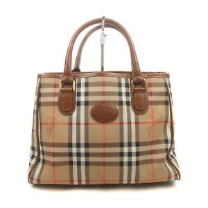 Burberrys Hand Bag  Light Brown Nylon 1428382