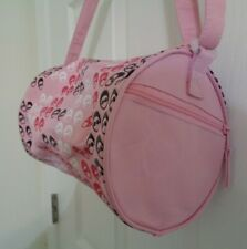 "NWOT Horizon Dance Gymnastics Ballet Nylon Pink Ballet Shoes 10x7"" Duffle Bag"
