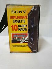 Sony Walkman Cassette 10 Carry Pack Vintage. 9 X Unopened Collectors Dream