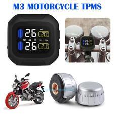 Waterproof Motorcycle Tire Pressure Monitor System TPMS Digital Gauge Sensors