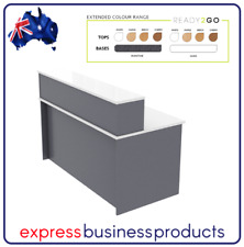 Ready 2 Go Straight Reception Desk - Assorted Colours and Dimensions *FREE POST*