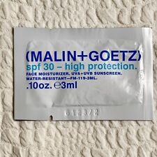 Malin + Goetz SPF30 Alta Protección Cara Crema Hidratante 3ml muestra sobre