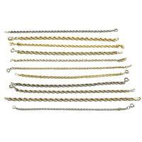 Rope Chain Tennis Bracelet Lot, Gold & Silver Tone, 11 Pieces, Vintage