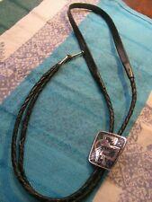 Symbol Trapeze Lapis Lazuli Bolo Tie Vintage Sterling Silver .925 Te-49 Silver