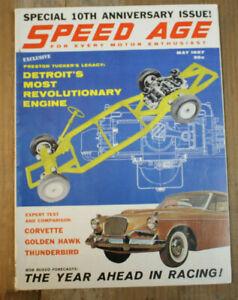 Vintage 1957 TUCKER Engine THUNDERBIRD vs CORVETTE v STUDEBAKER Hawk vw DAYTONA