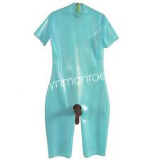 Latex Rubber Fresh Catsuit Short-sleeve Suit with Simulation Sheath Size XXS-XXL