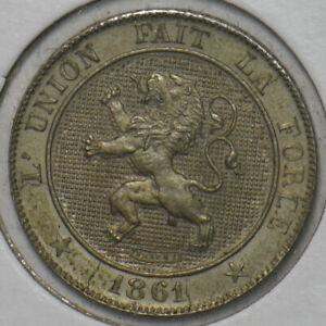Belgium 1861 5 Centimes Lion animal 195883 combine shipping