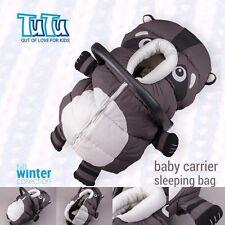 Sacco Imbottito Cappuccio Caldo Sacco a pelo di copertura per Baby Neonato Seggiolino auto portante Racoon