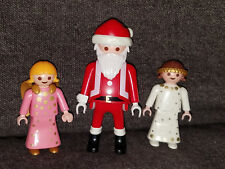 PLAYMOBIL CHRISTMAS HOLIDAY SANTA CLAUS + 2 ANGELS FIGURES GEOBRA
