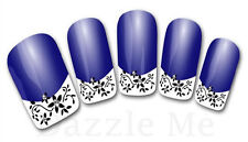 3D Nail Art Decals Transfer Stickers French Tip Design Flowers (3D840)