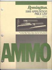 Remington Ammunition Retail Price List - December 1, 1988