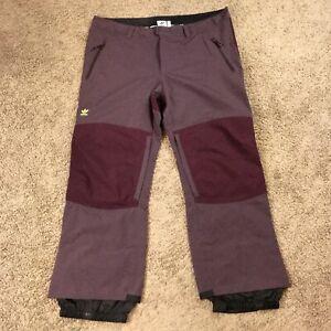 Adidas 20K Fixed Snowboarding Winter Pants Red/Maroon FJ7505 2XL $200