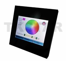 LCD Display Touchscreen Touch RGB LED Controller Dimmer 12V rund Unterputzdose