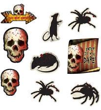 Decoración para Halloween 12 unidades Cortado Kit calaveras Arañas Ratas