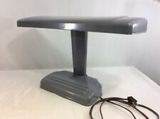 Vintage 1950s Desk Lamp Light Industrial Office Mid Century Art Deco Metal Green