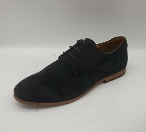 Men's TOPMAN Size 11 UK 45 EU Navy  Blue Suede Casual Shoes Laced In E U C