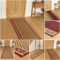 EXTRA LONG RED CREAM TRADITIONAL FLOOR HALL HALLWAY RUNNER RUG CARPET MAT