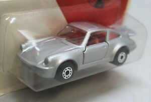 """Matchbox Lesney Superfast No3 PORSCHE 911 TURBO in """" SILVER with BLACK BASE """"MOC"""