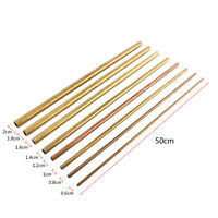 50cm Seamless Round Brass Pipe Tube 6-20mm for Transfering Modelmaking
