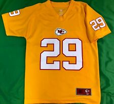 J625/160 NFL Kansas City Chiefs Eric Berry #29 Jersey Yellow Youth Medium 10-12