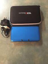nintendo 3ds xl blue/black W/Charger & Case.