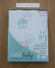 Ideal Baby by Aden Anais Baby Girl Changing Pad Cover ~ Owls ~