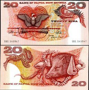 PAPUA NEW GUINEA 20 KINA ND 1989-1992 P 10 a UNC