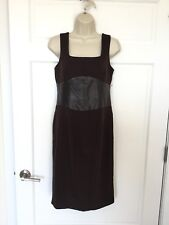 NUE by Shani NWT Size 6 bodycon Sleeveless tankdress Sheath Dress leather waist