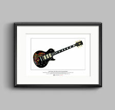 Keith Richards' Gibson Les Paul Black Beauty Ltd Edition Fine Art Print A3 size