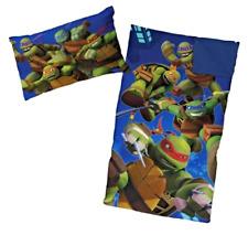 TMNT Teenage Mutant Ninja Turtle Sleeping Slumber Bag and Pillow 2 Piece Set NEW