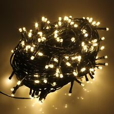 100-1000 LED String Fairy Lights on Green Cable for Christmas Tree Party Wedding