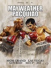 Floyd Mayweather vs Manny Pacquiao On Site Poster by Richard T. Slone 18 x 24