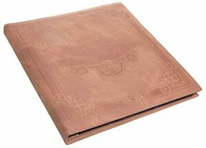 "Brown Faux Leather Photo Album with Embossed Borders, Max. 500 4x6"" Prints"