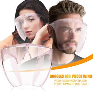 Men Women Proof Wind Proof Sand Proof Splash Face Impact Shield Pink Clear Lot